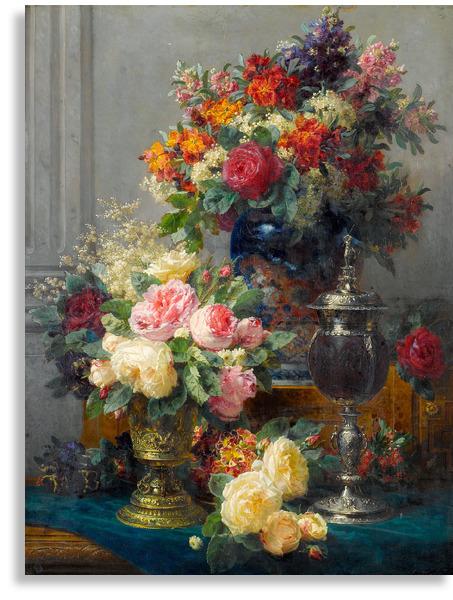 Натюрморты известных художников с цветами